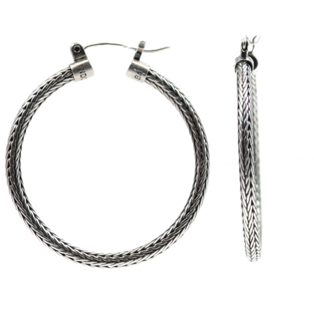 ID E001L ROPE HOOP EARRINGS