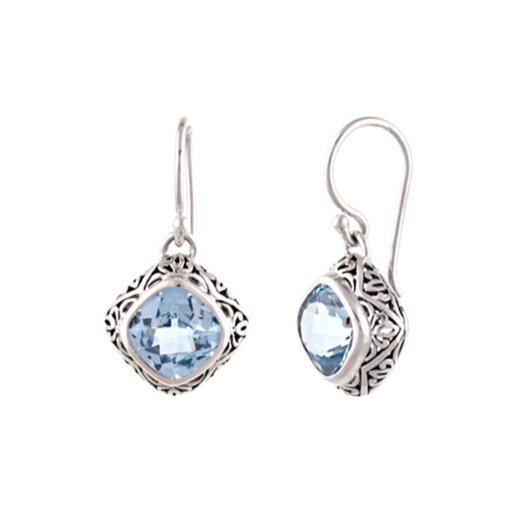JD E55107 BLUE TOPAZ EARRINGS
