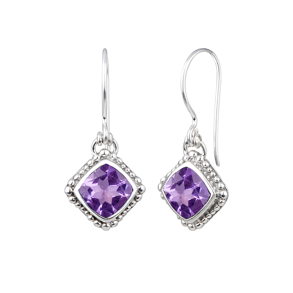 JD E64042AMY AMETHYST BEADED EARRINGS