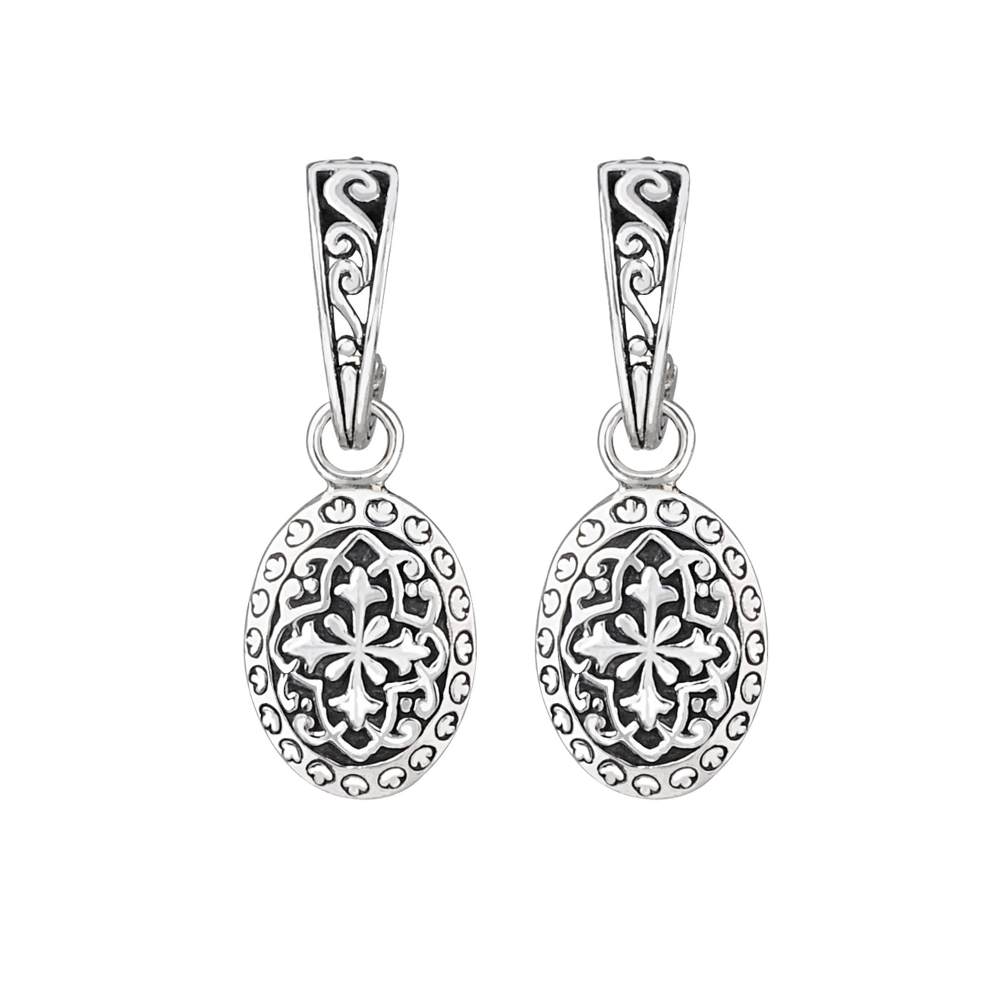 JD E64069 OVAL FILIGREE HOOP EARRINGS