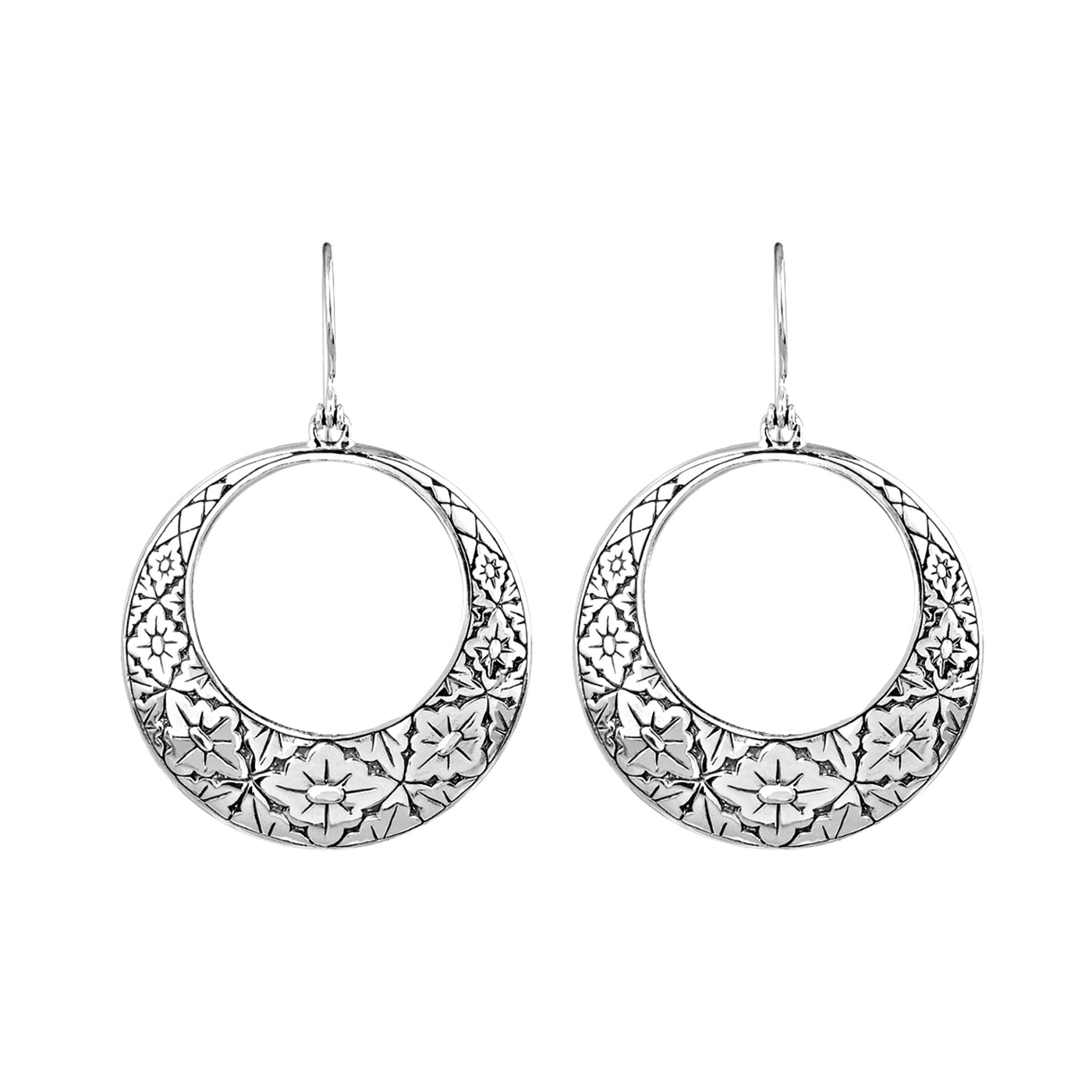 JD E64139 GRADUATED FILIGREE CIRCLE EARRINGS