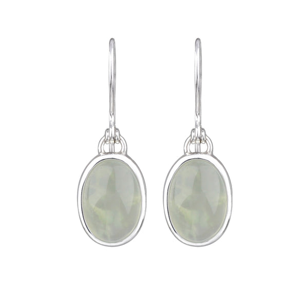 JD E64394 PREHNITE OVAL DROP EARRINGS