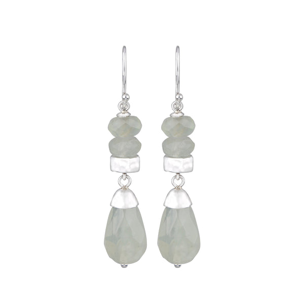JD E64404 PREHNITE BEAD EARRINGS