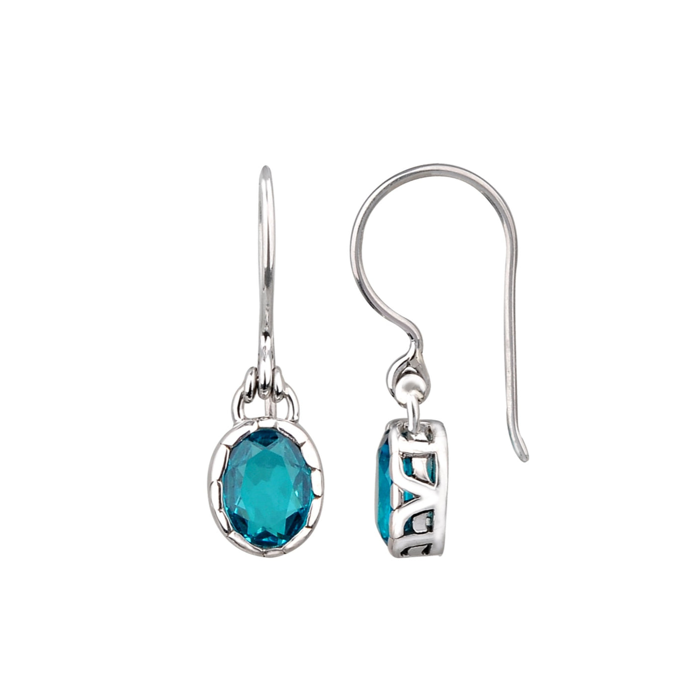 JD E71014DOBAP APATITE OVAL DROP EARRINGS