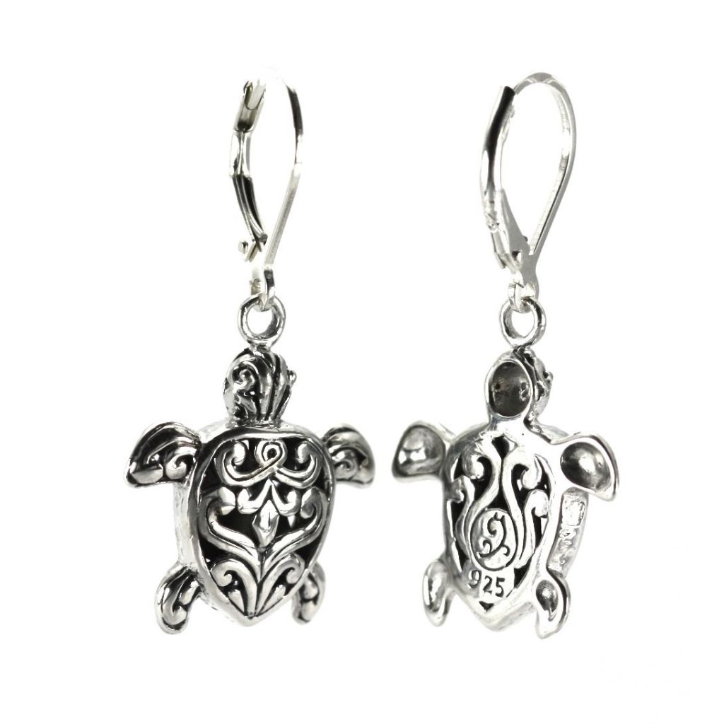 ID E760 BALI TURTLE EARRINGS