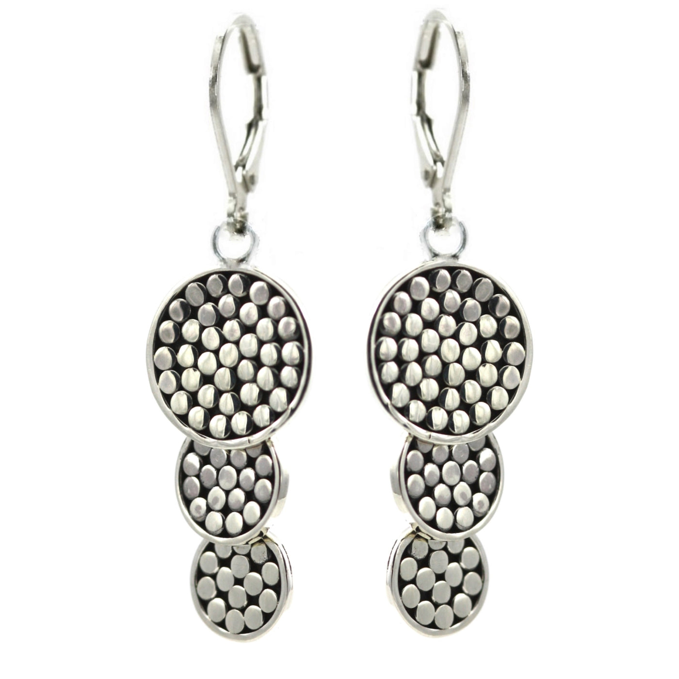 ID E841 TRIPLE DISC EARRINGS