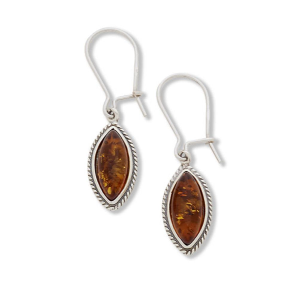 BS EAC6026 AMBER MARQUIS EARRINGS