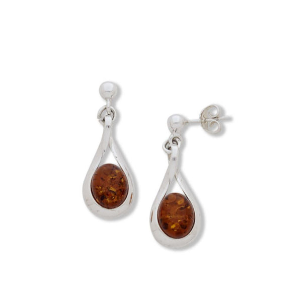BS EF1932 AMBER LOOP EARRINGS