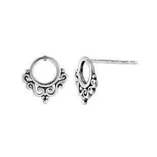 BO ES2266 OPEN FILIGREE CIRCLE STUD