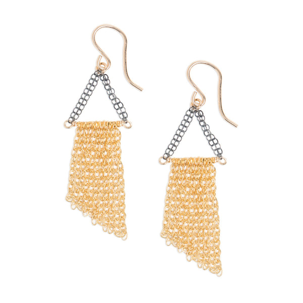 KW FIONA MIXED METAL FRINGE DANGLES