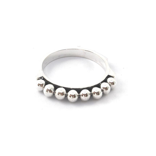 ID R309 7-BEADED BALL SZ6 RING