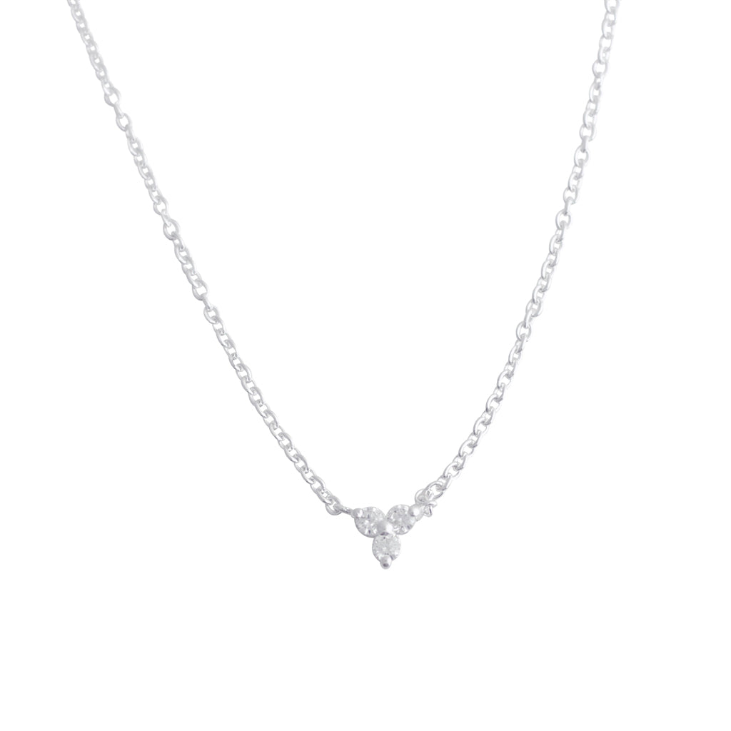 TA N126SCZ TRI MINI CUBIC ZIRCONIA NECKLACE