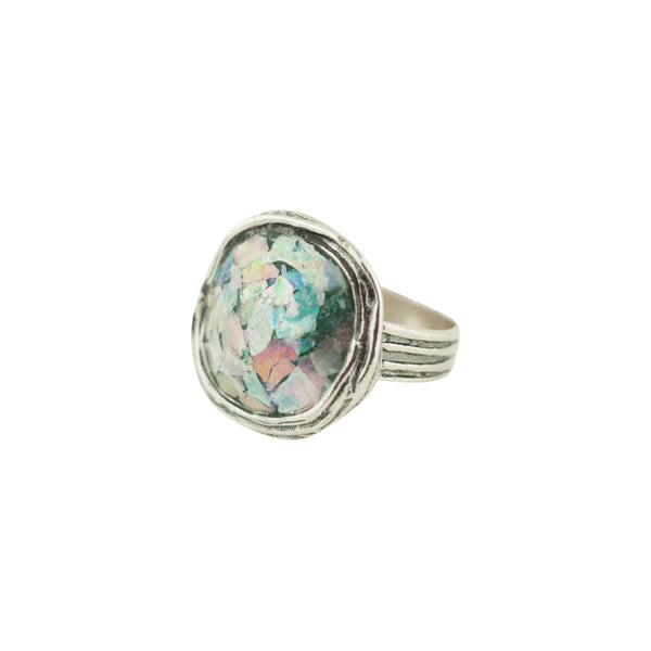 MED ASR2129021P ROMAN GLASS RING