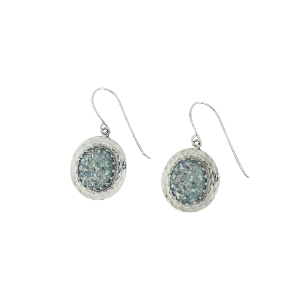 MED ASE16029P ROMAN GLASS DROP EARRINGS