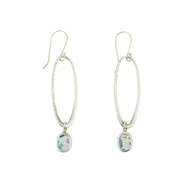 ASE2094038A ROMAN GLASS OPEN OVAL EARRINGS
