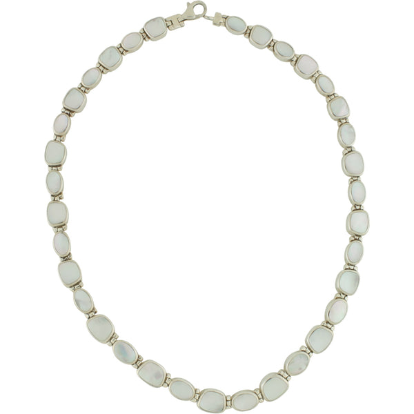 PY 83 MOTHER OF PEARL & ONYX NECKLACE