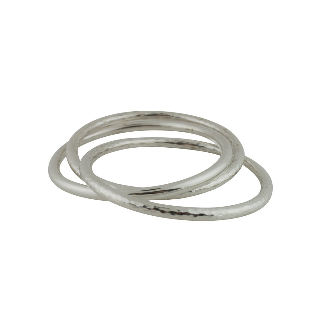 CH 63 TRIPLE HALF HAMMERED BANGLE