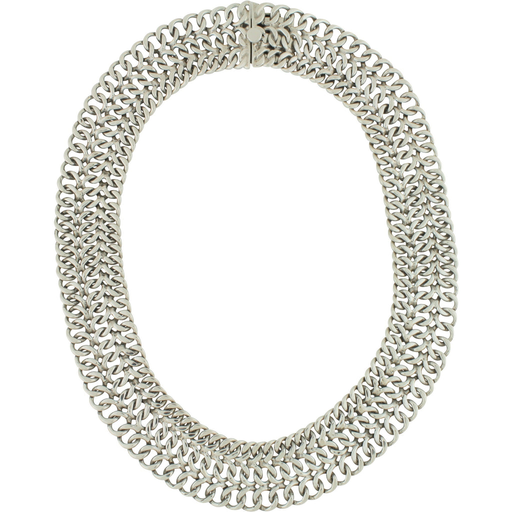 CH 165 WIDE WOVEN NECKLACE