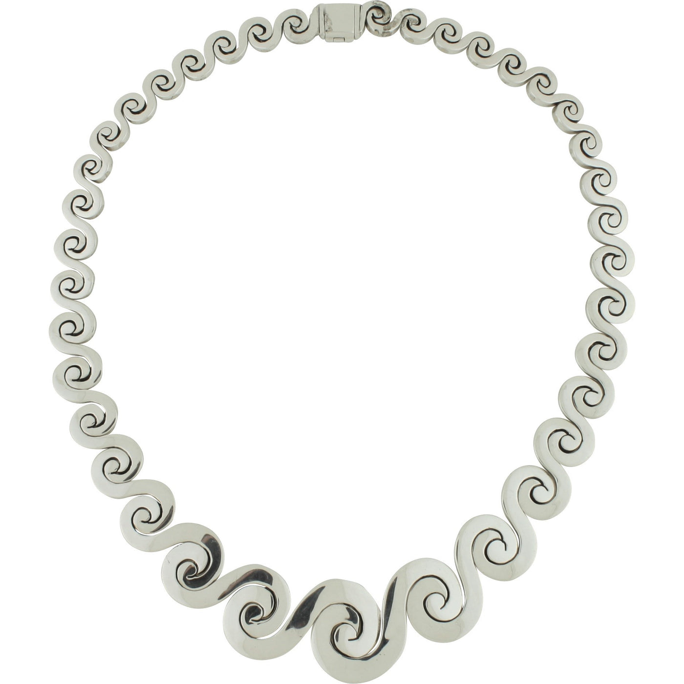 CH 168 LARGE GRADUATED WAVE NECKLACE