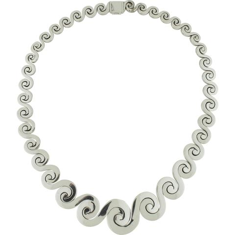 CH 119 GRADUATED WAVE NECKLACE