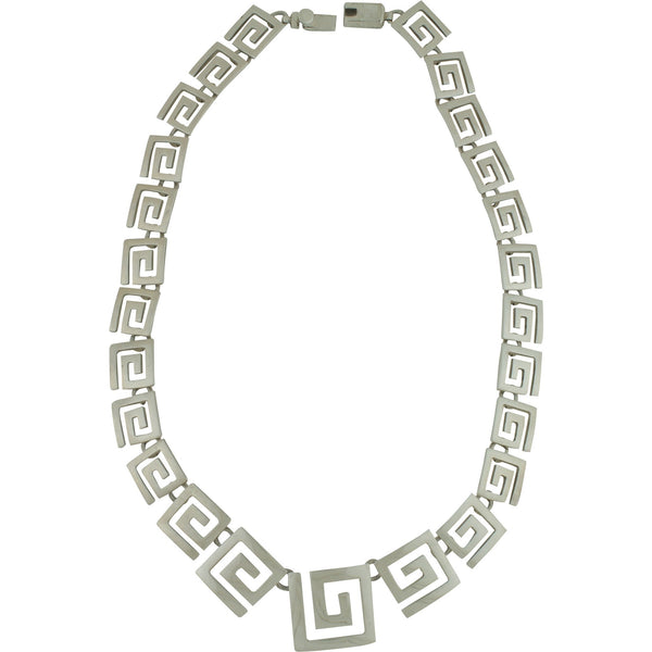 CH 55 GRADUATED OPEN GREEK KEY NECKLACE