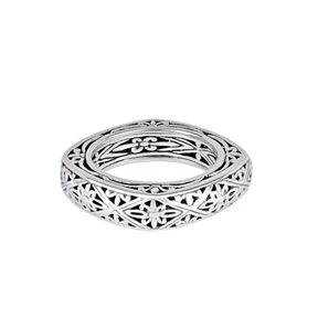 JD R59726 SQUARE FILIGREE BAND RING