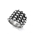 MM M8-100 OXIDIZED GRADUATED CIRCLES RING