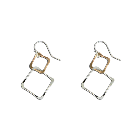 MST L11-MX TWO TONE DOUBLE SQUARE DANGLES