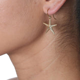 CW E128V GOLD VERMEIL STARFISH EARRINGS