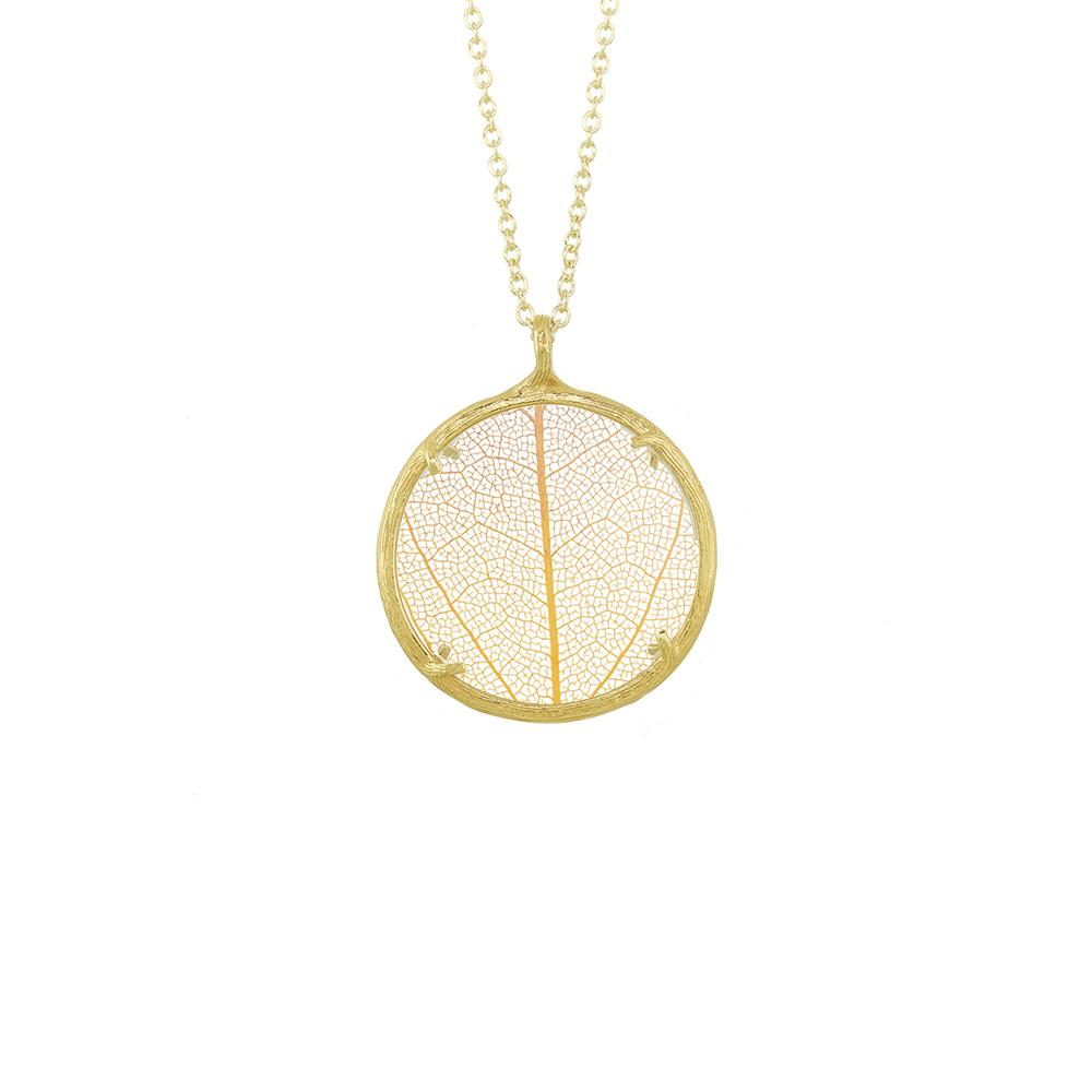 pendant goldenleaf flor leaf gld glass products cw blanca necklace nk silver shop gold jewelry vermeil