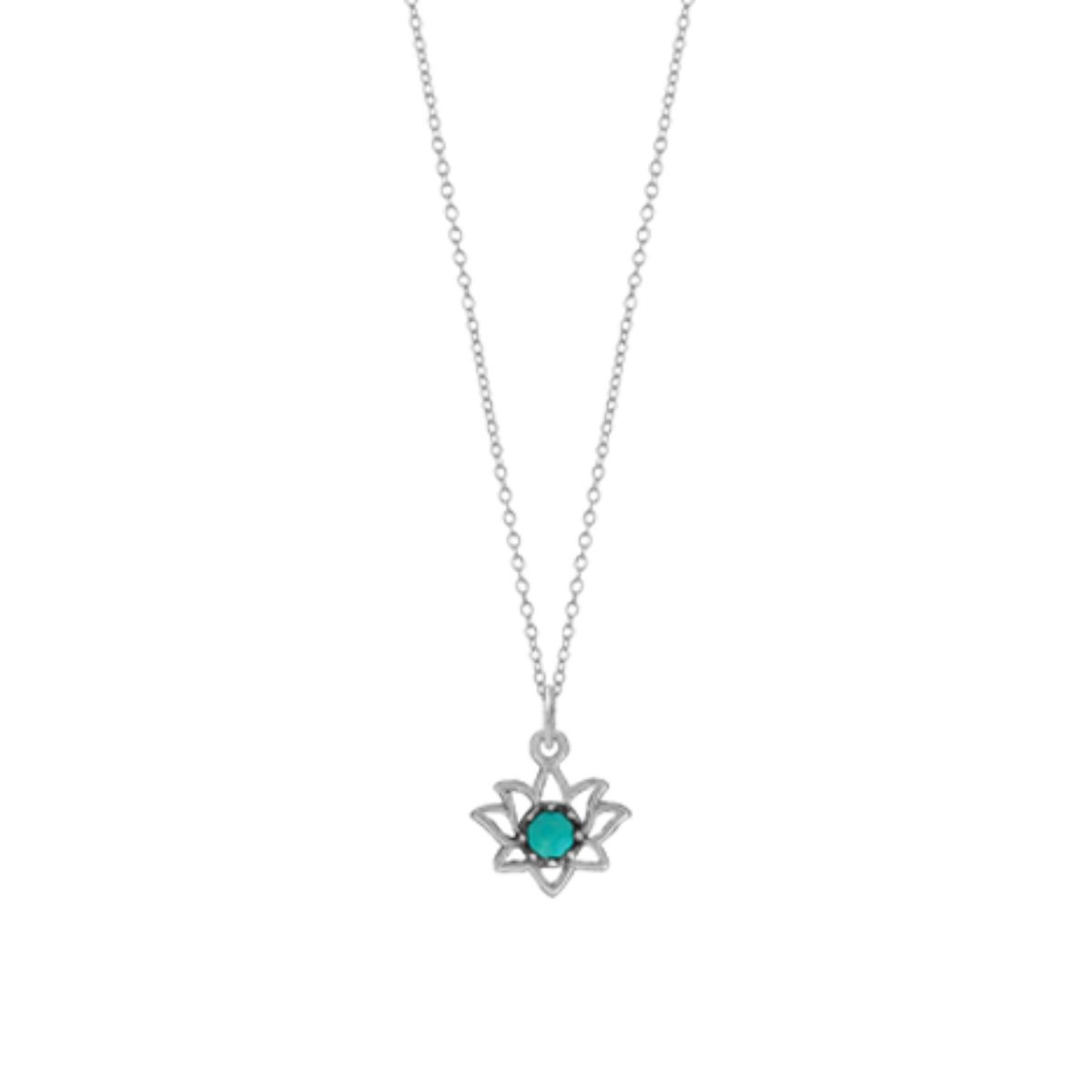 BO N4288 TURQUOISE LOTUS NECKLACE