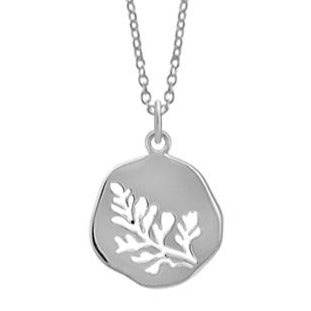BO N4456 OPEN LEAF CIRCLE NECKLACE
