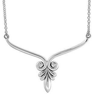 BO N4475 FLORAL BAR NECKLACE