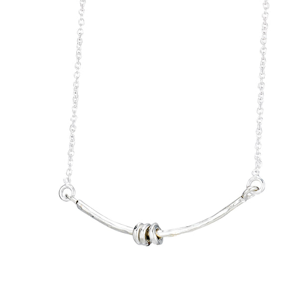 PL N517 RINGED BAR NECKLACE