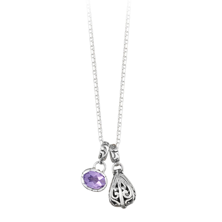 JD N62723 AMESTHYST DROP NECKLACE