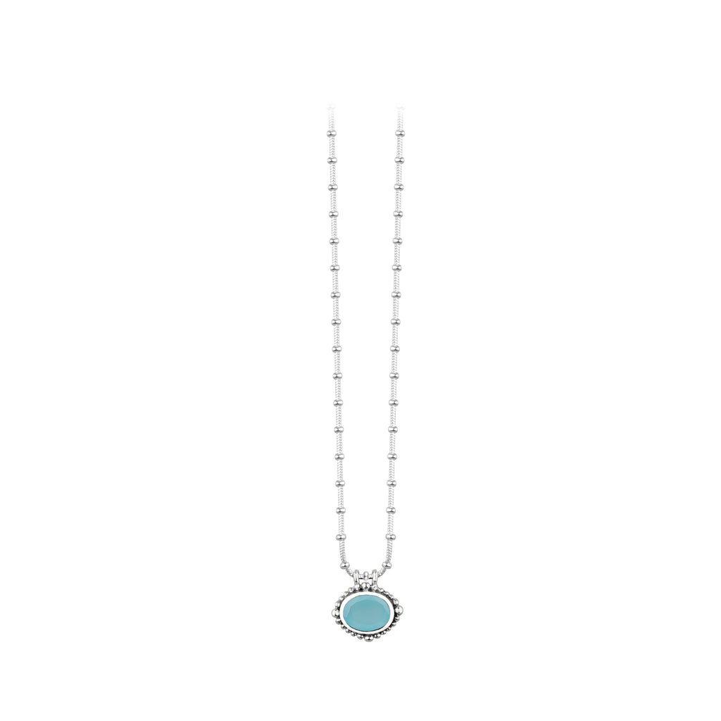 JD N64176CAS MINI CHALCEDONY NECKLACE