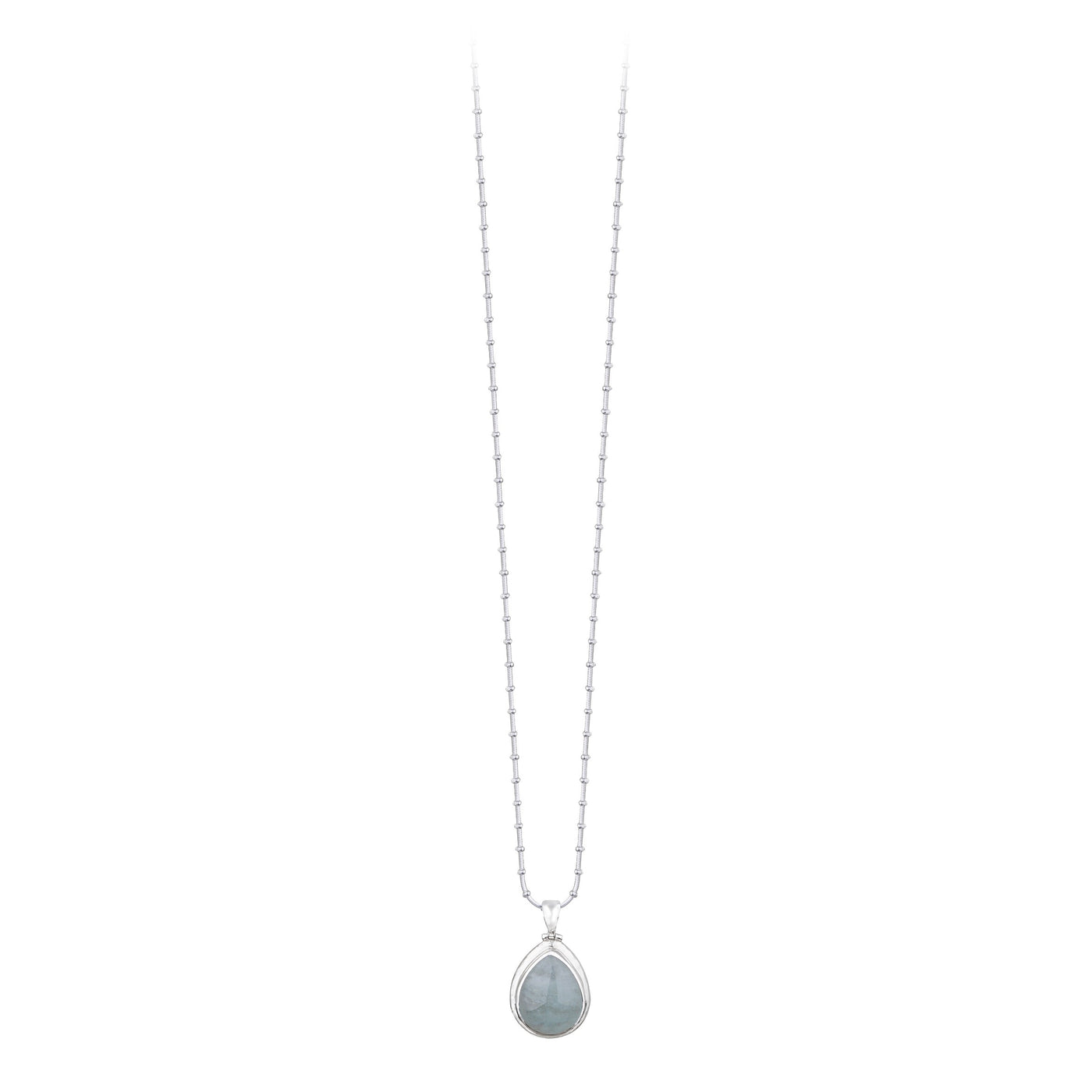 JD N64468 AQUAMARINE TEAR DROP PENDANT