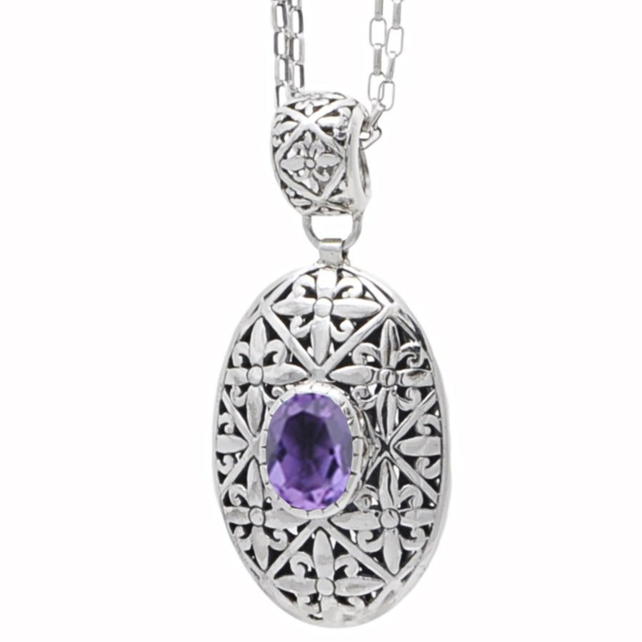JD N70894 AMETHYST LONG NECKLACE