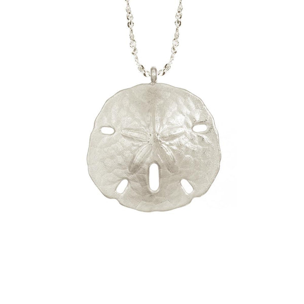 CW N735S LARGE SAND DOLLAR NECKLACE