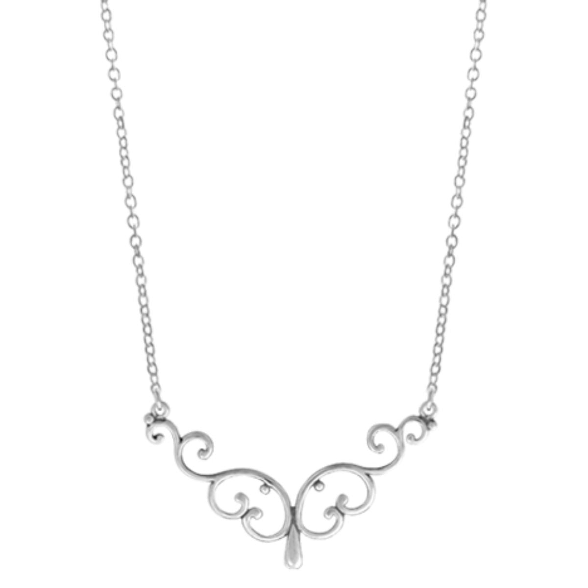 BO NA2270 FILIGREE BAR NECKLACE