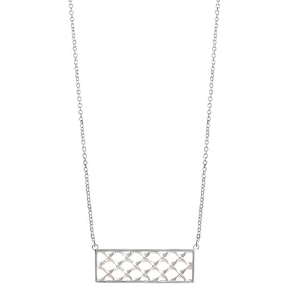 BO NA2271 BUBBLE RECTANGULAR BAR NECKLACE