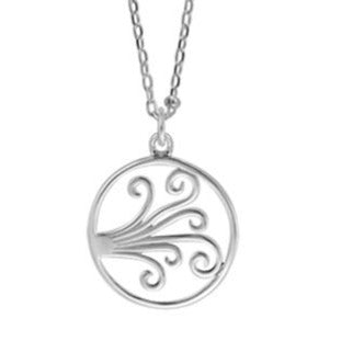 BO NA2600 FILIGREE OPEN CIRCLE NECKLACE