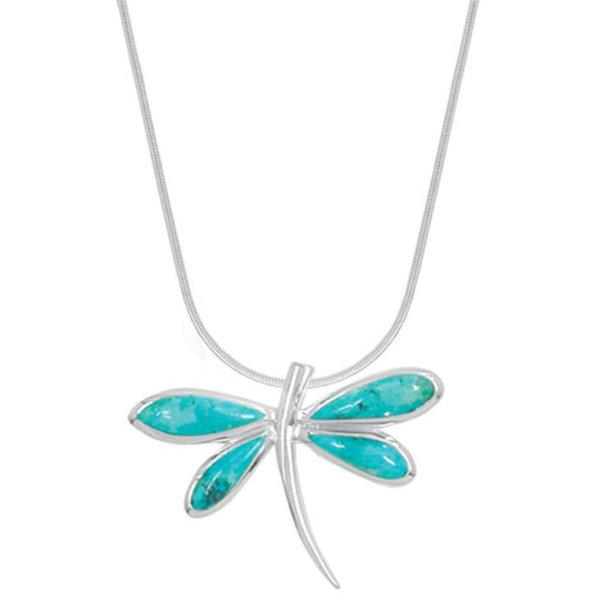 BO NB864TQ TURQUOISE DRAGONFLY NECKLACE