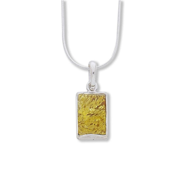 NF172L SMALL YELLOW AMBER PENDANT