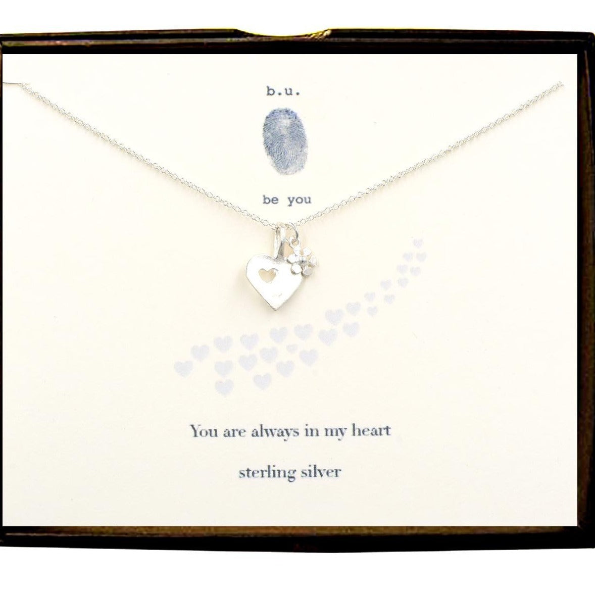 BU N06B YOU ARE ALWAYS IN MY HEART NECKLACE