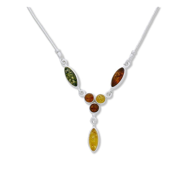 BS NZ057M AMBER FLORAL NECKLACE