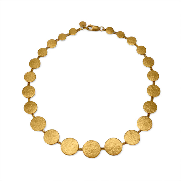 CT PANK04G 28 GOLD MATTE DISC NECKLACE