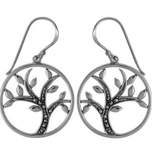 BO SD1173 MARCASITE TREE EARRINGS