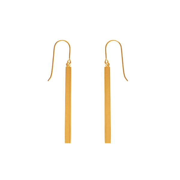 TA E32G GOLD RECTANGLE DANGLES