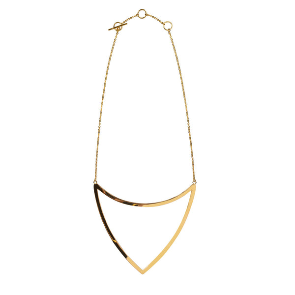 ARM GOLD OPEN TRIANGLE NECKLACE